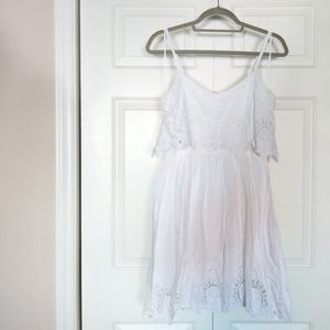White Lace Babydoll Dress
